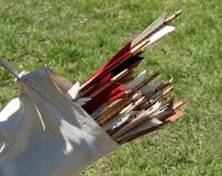 Archery Quiver Arrows. Royalty Free Stock Photography