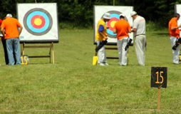 Archery range Stock Image