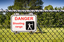 Archery range sign. An archery range and hunting sign Royalty Free Stock Photography