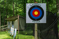 Archery Range. At summer camp stock photo