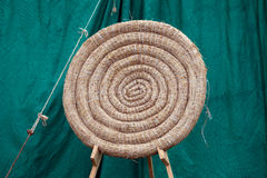 Archery Round Coiled Straw Target Royalty Free Stock Images