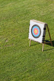 Archery Round Target on a Stand Royalty Free Stock Photo