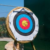Archery shooting target Royalty Free Stock Image