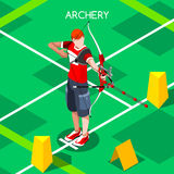 Archery Summer Games Isometric 3D Vector Illustration Royalty Free Stock Photos