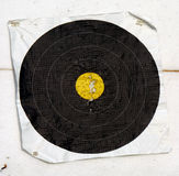 Archery target. A black target for archery Stock Photos