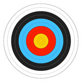 Archery Target. Vector illustration on white Stock Images