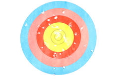 Archery target. The archery target with holes Royalty Free Stock Photo
