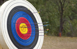 Archery target Stock Photos