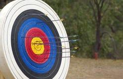 Archery target stock photos