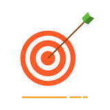 Archery target with arrow icon. Creative business concept vector illustration in flat design Royalty Free Stock Photos