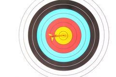 Archery target with arrow Royalty Free Stock Photo