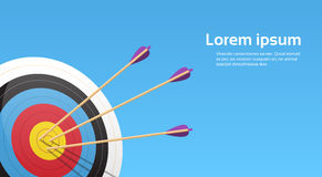 Archery Target With Arrows Archer Sport Game Competition Stock Photo