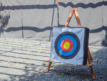 Archery target with arrows Stock Photography