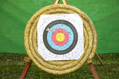 Archery Target With Arrows Stock Images