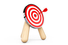 Archery Target with Dart in Center Royalty Free Stock Photo
