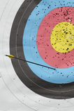 Archery target. Detail of a perforated archery target Stock Images