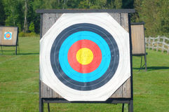 Archery target goal success game dartboard. Target archery goal precision leisure game concept stock image