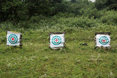 Archery target with grassland Stock Photography