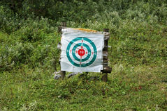 Archery target with grassland Stock Photos