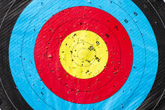Archery Target. Heading Perfection. Stock Images