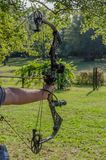 Archery target shooting Royalty Free Stock Images