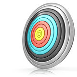 Archery target. Side view Royalty Free Stock Images