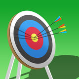 Archery target Stock Photo