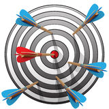 Archery target vector illustration. Royalty Free Stock Photos