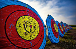 Archery targets Stock Image
