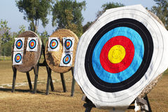 Archery Targets. Some Archery Targets on outdoor Stock Image