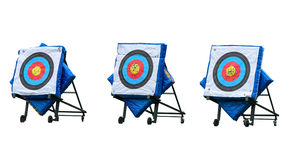 Archery targets. On white background Stock Photo