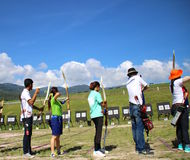 Archery Tournament. Chiangmai University Archery Tournament Outdoor Royalty Free Stock Images