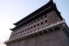 Archery Tower of Zhengyangmen is a gate in Beijing`s historic city Royalty Free Stock Photo