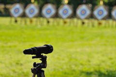 Archery view Royalty Free Stock Photos