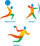Archery Weightlifting Handball Icon Royalty Free Stock Images