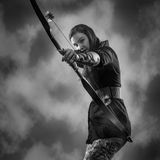 Archery woman Stock Photos