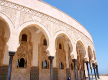 Arches. In the Hussein mosque in Casablanca, Morocco royalty free stock images