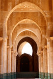 Arches. Row of arches in the Hussein mosque in Casablanca, Morocco royalty free stock images