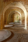Arches of 1800 fort Interior. The interior arches of american fort built in tthe 1800's Royalty Free Stock Photos