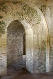 Arches of 1800 fort Interior. The interior arches of american fort built in tthe 1800's Royalty Free Stock Image