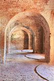 Arches of 1800 fort Interior. The interior arches of american fort built in tthe 1800's Royalty Free Stock Images