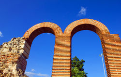 Arches. Two arches of the amphitheater in Old Nessebar Stock Photos