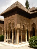 Arches. Beautiful arches of Alhambra, Granada, Spain Stock Photos