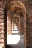 Arches. Made of brick at fort jefferson Royalty Free Stock Photo
