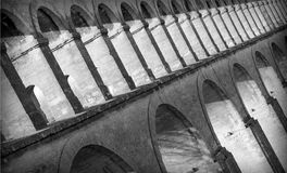Arches. Roman arches forming an aquaduct in Montpellier, France Stock Photography