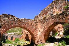 Arches. Of the ruins of the ghost town in real de catorce, in san luis potosi, mexico royalty free stock image