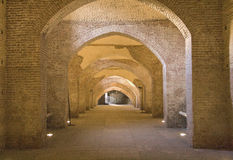 Arches. Brick arches of an ancient palace Stock Images