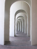 The Arches. An exterior walkway at a college in Virginia, with arched supports Royalty Free Stock Image