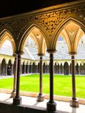architecture of the abbey stock photography