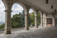 Arches of the Academic (Elizabethan) gallery in Pyatigorsk, Russ Royalty Free Stock Photos